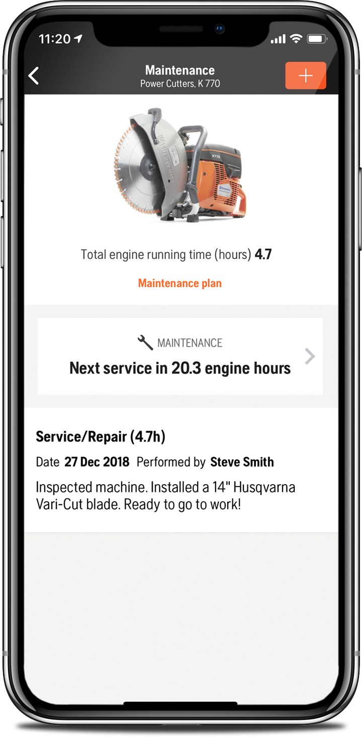 The Husqvarna Fleet Services™ smartphone app is available for IOS and Android.